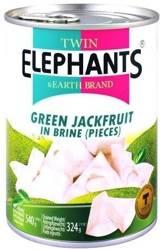 Jackfruit młody w słonej zalewie - KARTON 24 x 540g Twin Elephants & Earth Brand