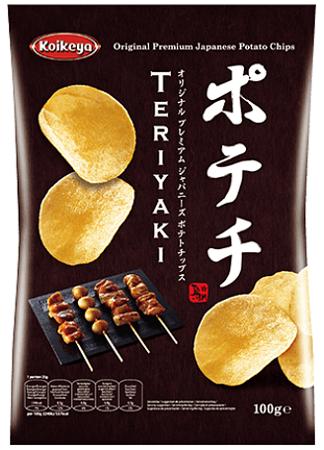 Oryginalne chipsy ziemniaczane Koikeya Teriyaki 100g z Japonii