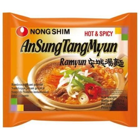 Ostra zupa Ansungtangmyun z pastą sojową 125g NongShim
