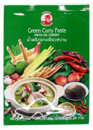 Pasta curry zielona 50g