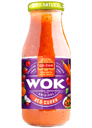 Sos Red Curry do dań z woka 240ml - Go-Tan