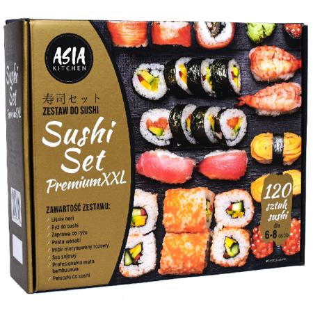Sushi Set Premium XXL - Zestaw do robienia sushi - nawet 120 kawałków!